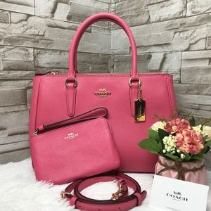 👜COACH SET🌺SURREY CARRYALL & WRISTLET